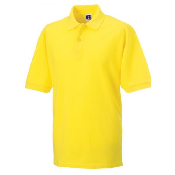 Yellow 569M Men's Classic Cotton Polo