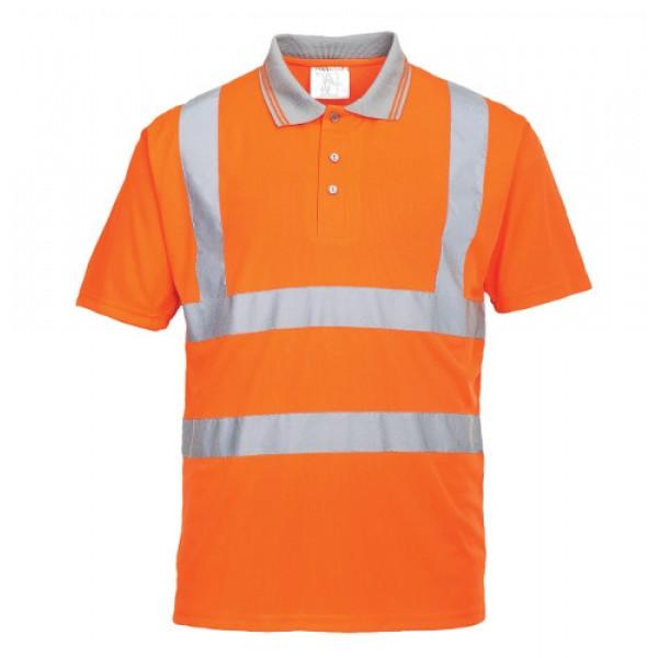 Hi-Vis Short Sleeved Polo Shirt GO/RT