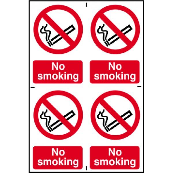 No Smoking (4 per sheet)